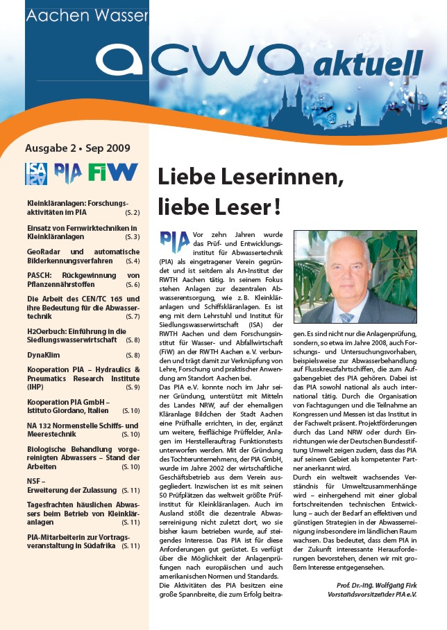 acwa 2 Newsletter Cover